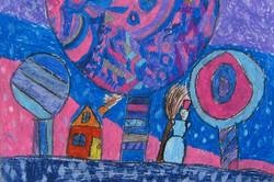 Охорзина Настя 9 лет. Зимняя сказка