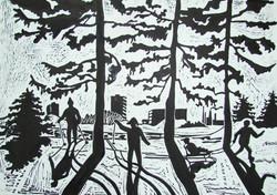 Леонов Влад, 14л., Зимой в парке, преп