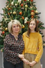 Карагаева Полина и преподаватель Полещук