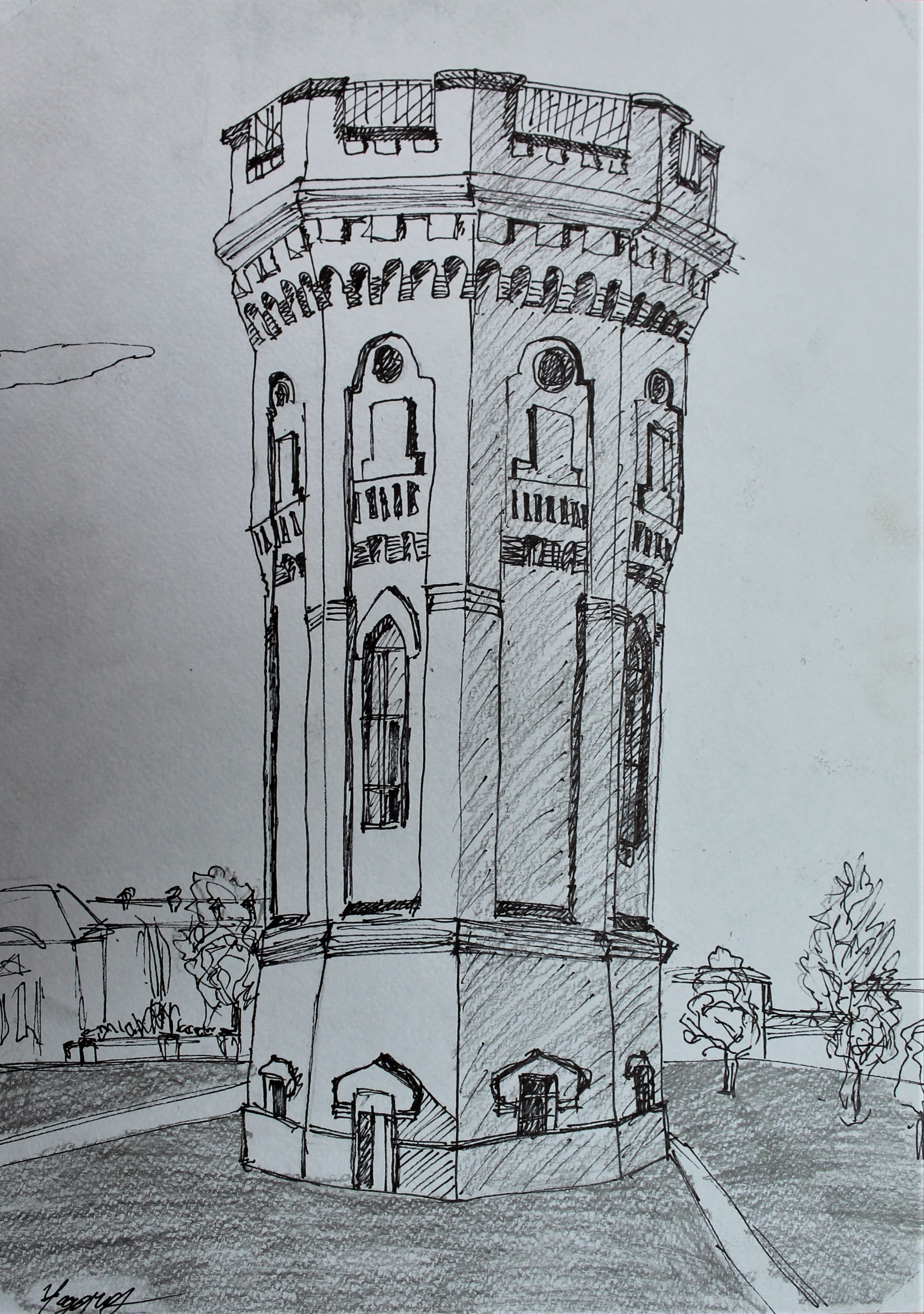 Фёдоров Павел 14 лет Водонапорная башня.
