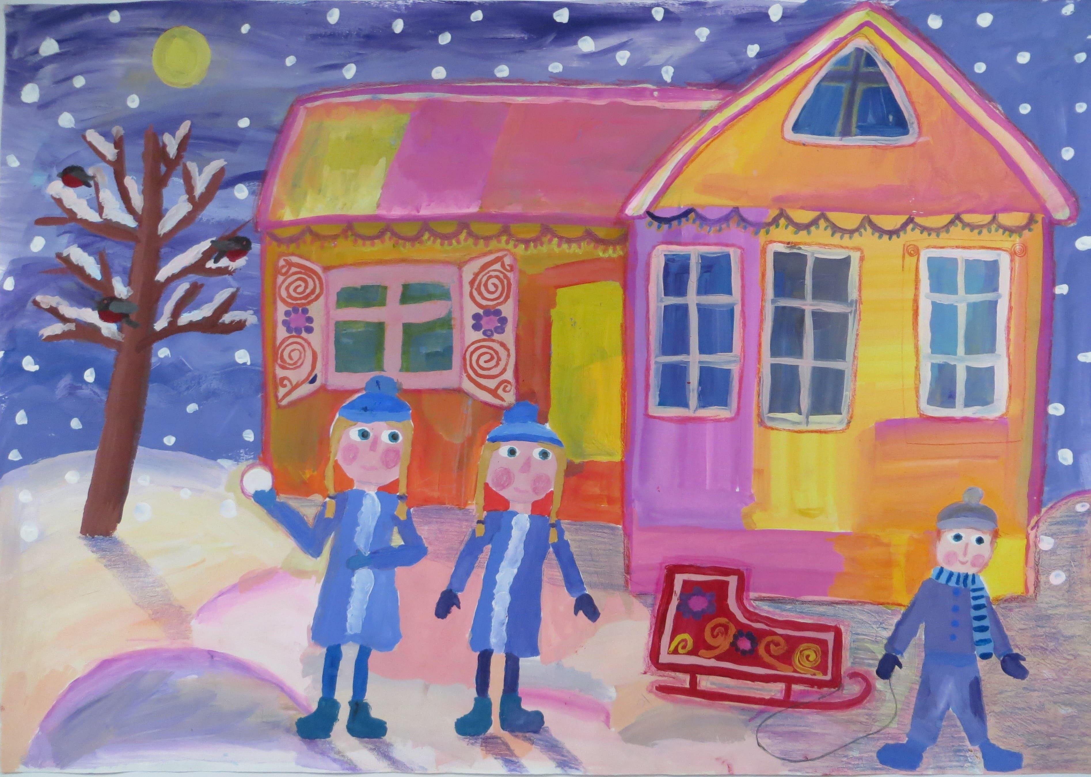Автаева Дарья, 9 лет. Снегопад