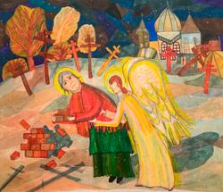 Арнцт Анна, 10 лет.Ночные труды святой Ксении Петербургской