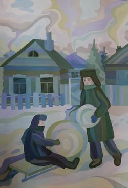 Петухова Яна, 15 лет Зимние забавы