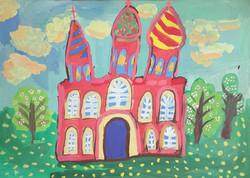 Зайцева Вероника, 8 лет. Весенний храм