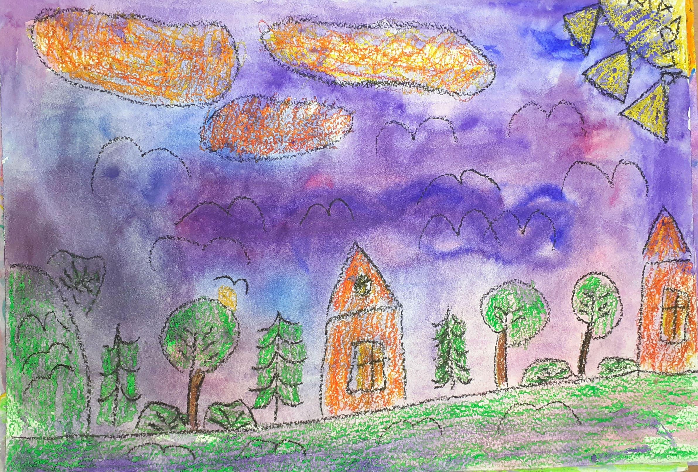 Нигматова Мадина, 8 лет, ''Мой городок''