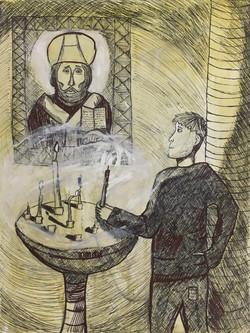 Кудряшов Денис, 11 лет. В храме