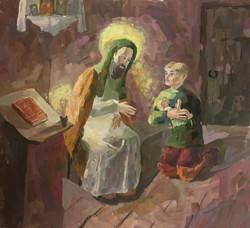 Козикова Александра, 14 лет. Преподобный Сергий Радонежский. Исцыление