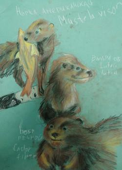 Бизина Виктория Зарисовки пастелью живот