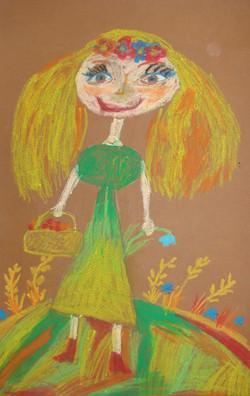 Логинова Софья 8 лет. Я по ягоды пошла