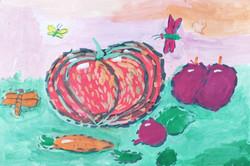 Липин Илья, 8 лет. Сбор урожая