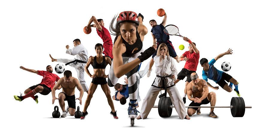 Huge multi sports collage roller skating