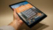 Manual do Proprietário em um tablet