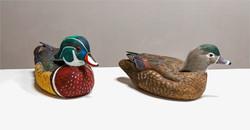 """Wood Duck Pair - Hen & Drake"""