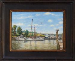 """Skipjack 'Caleb W. Jones' At Cobb Island"""