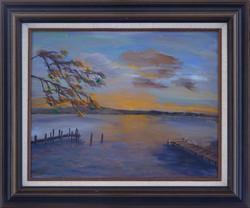 """COBB ISLAND AT SUNSET"""