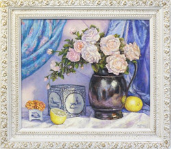 """""""Roses In A Pewter Pitcher"""""""