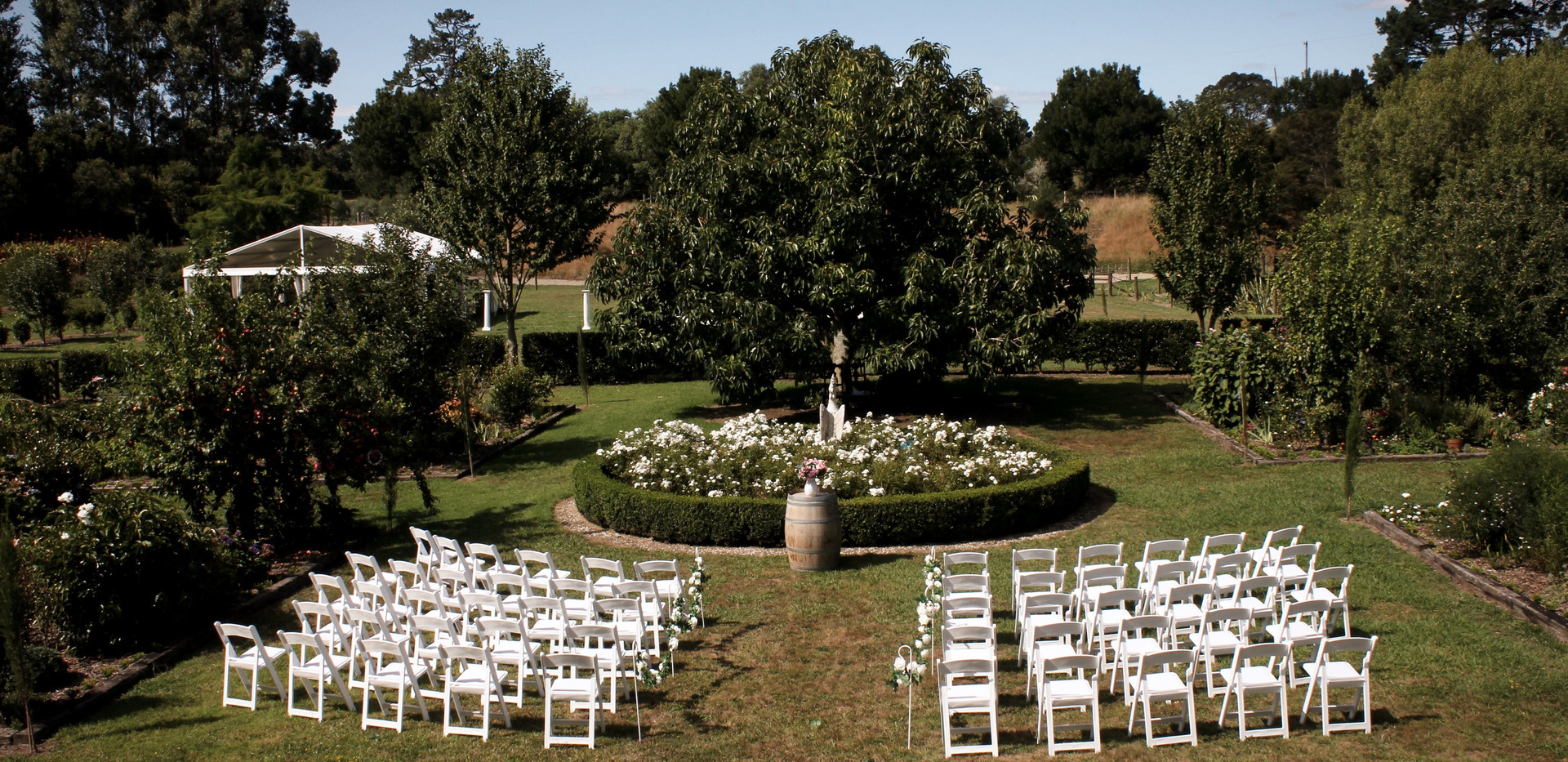 ceremony area in main garden