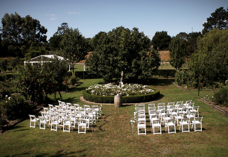 ceremony area in main garden