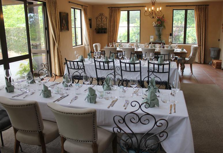 Dining in Main Villa