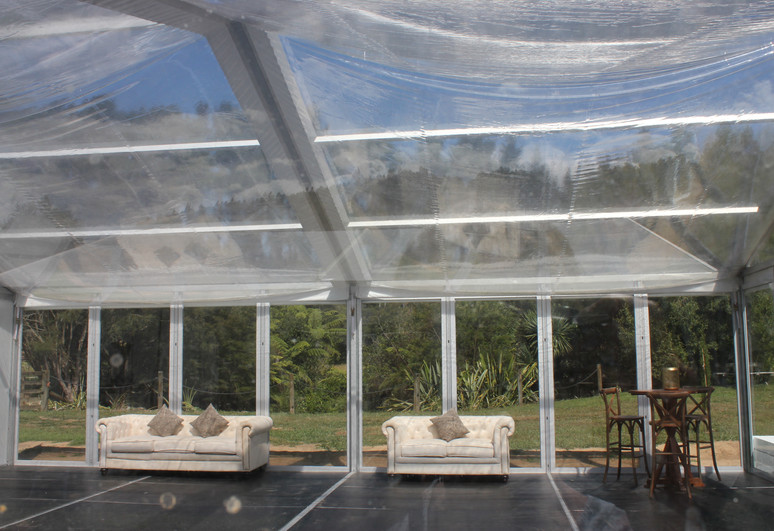 Clear ceiling marquee