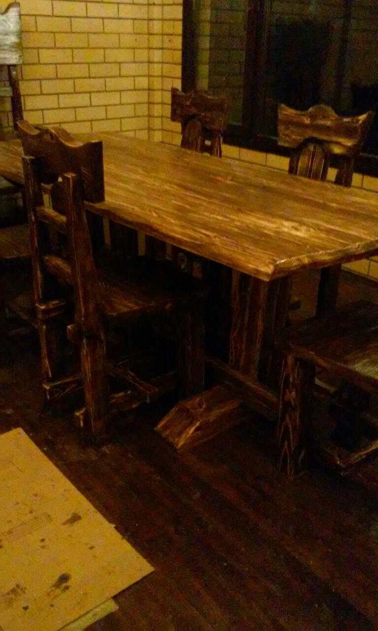 Изготовление стола из массива дерева