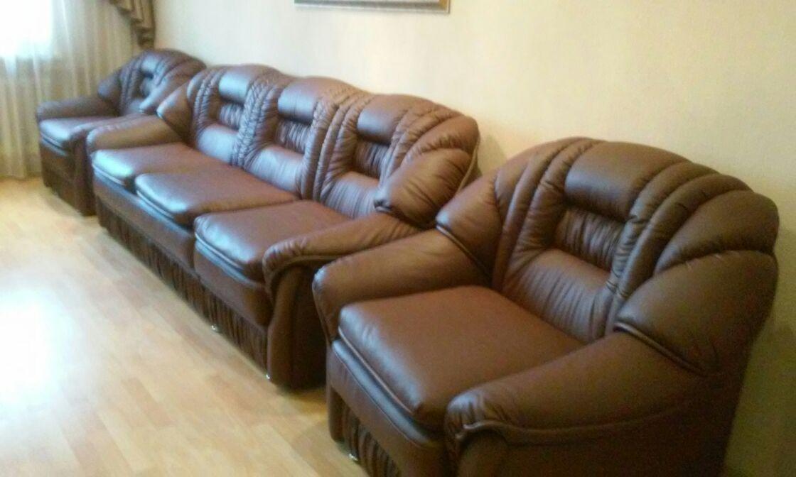 Перетяжка дивана кордова кожа
