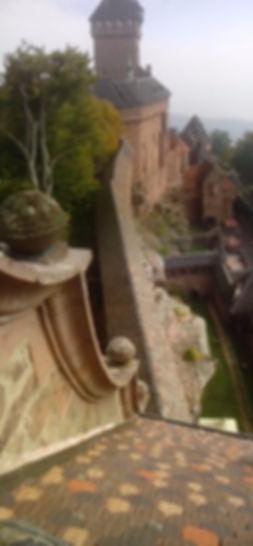 Chateau haut koenisbourg-cordiste-Tailleur de pierre