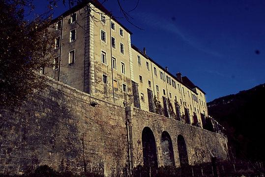 Accord de pierre-Monastère de Sélignac-cordiste-travaux en hauteur-monument historique-patrimoine-dévégétalisation MH