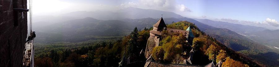 Alex Philippet-Accord de pierre-rejointoiement donjon-Haut koenigsbourg-cordiste-travaux en hauteur-monument historique-patrimoine