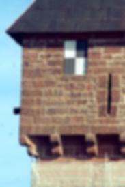 Accord de pierre-Haut koenigsbourg-cordiste-travaux en hauteur-monument historique-patrimoine