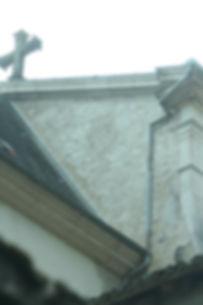 Accord de pierre-Monastère de Sélignac-cordiste-travaux en hauteur-monument historique-patrimoine-rénovation mur pignon
