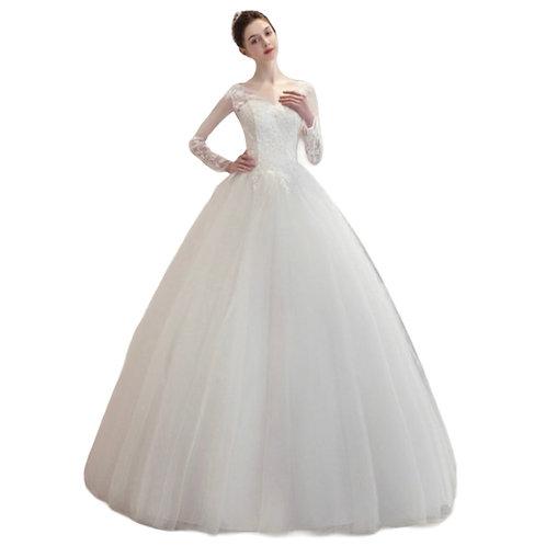 Prinsesse kjole med ærmer