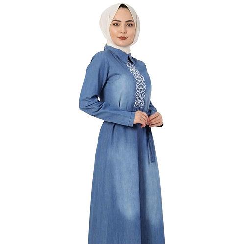 Jeans kjole TSD3896 lyseblå
