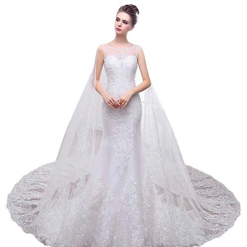 Havfrue brudekjole