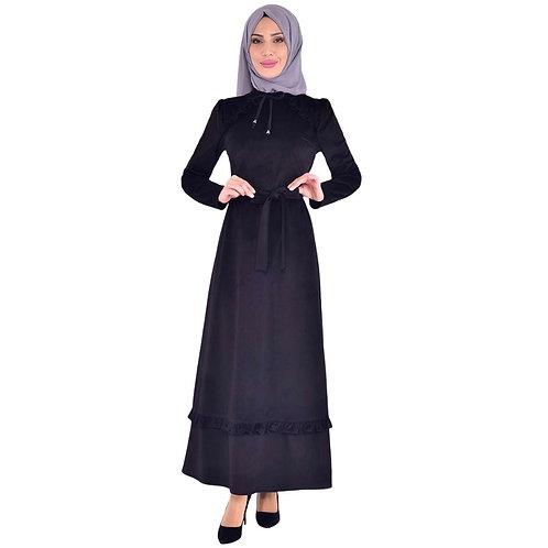 Velour lang kjole