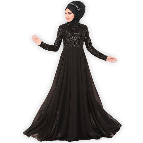 Sort Hijabfestkjole