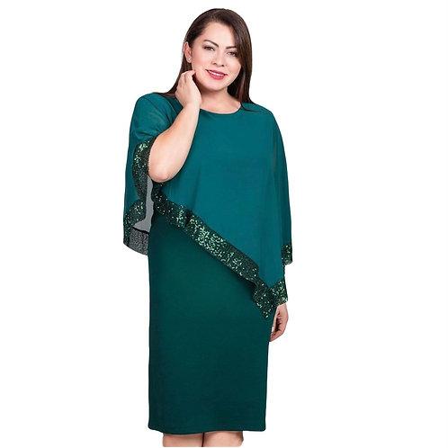 kort Poncho detaljeret plus kjole