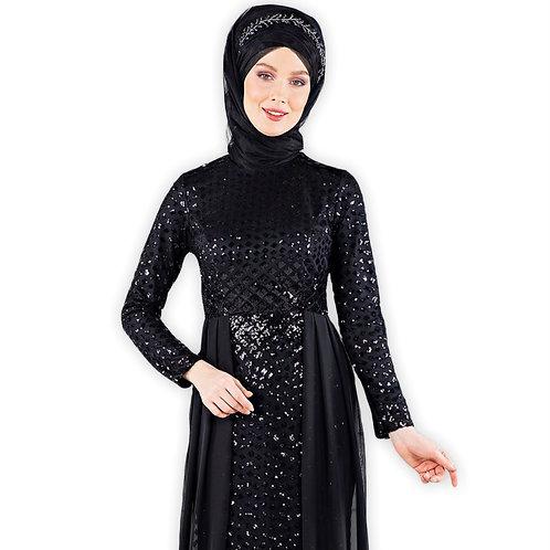 Sequin broderet islamisk aftenkjole