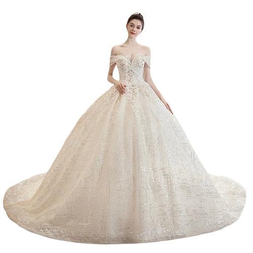 Brudekjole med slæb