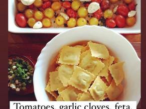 Recipe: Baked Tomato Feta Ravioli