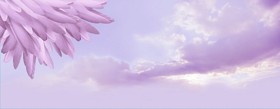 Angel feather message background banner