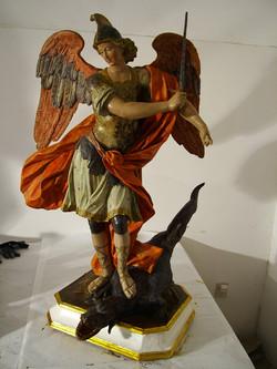 La Statua di San Michele oggi