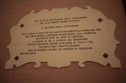 Lapide commemorativa 26 maggio 2009
