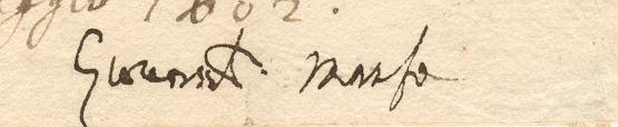 Autografo di Giova Battista Manso