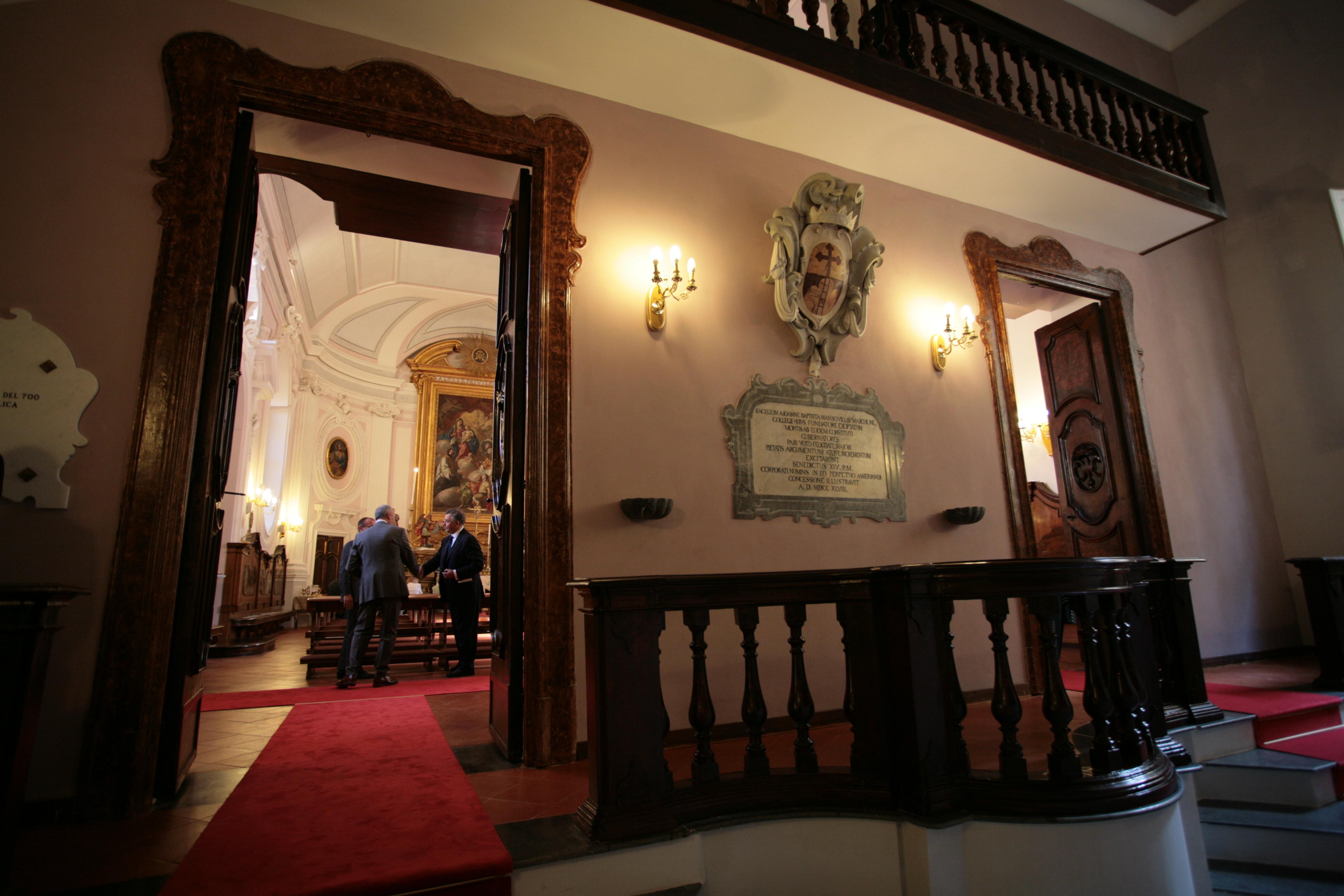 L'ingresso della Cappella oggi