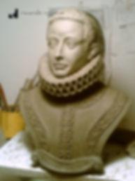 Preparazione del Busto di Manso realizzato dal Maestro Riccardo Ruggiano