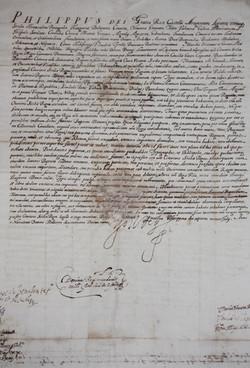 Licenza di Filippo II