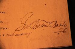 Autografo di G.B. Basile
