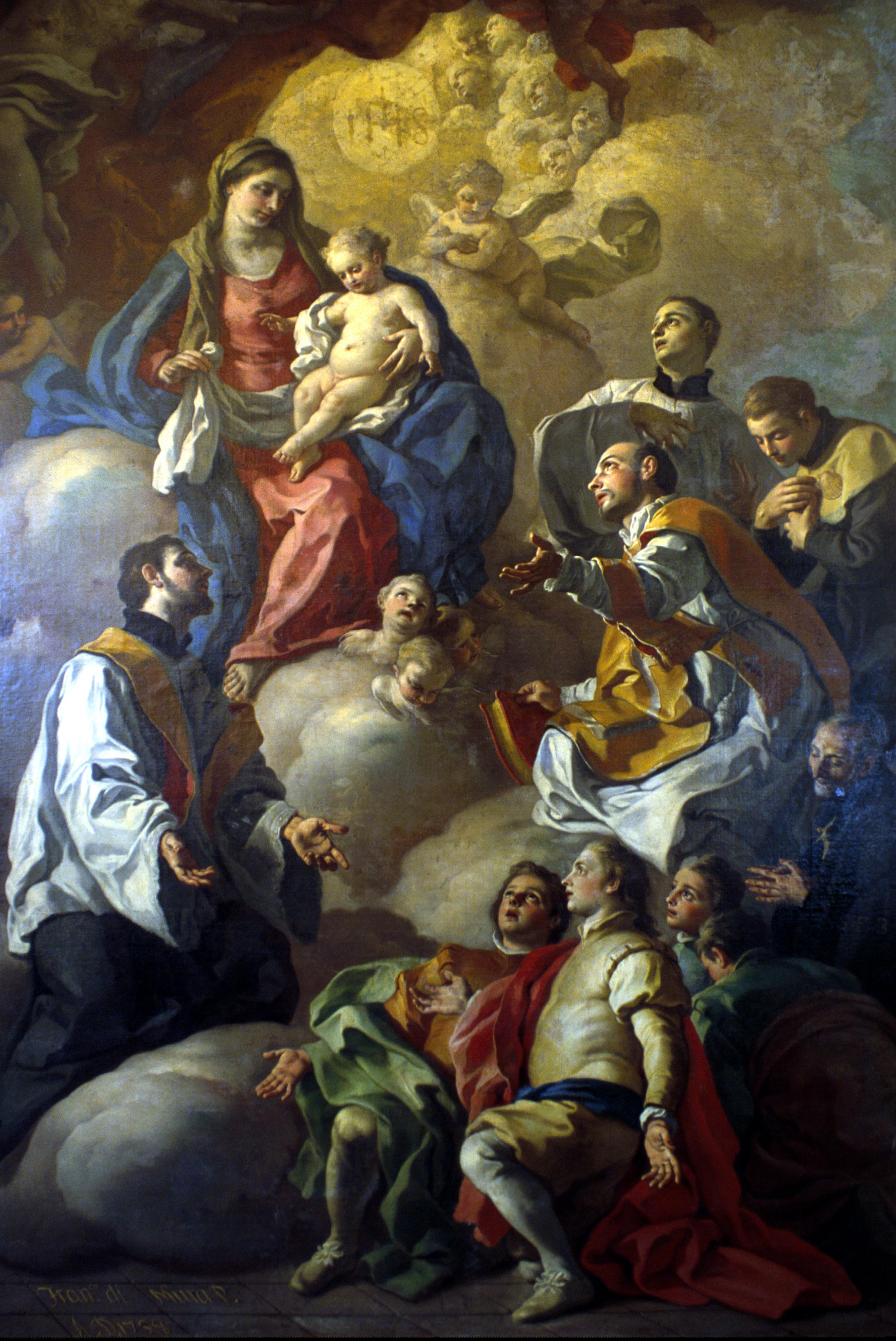 Pala altare Francesco de mura