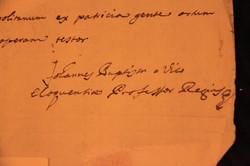Autografo di G. B. Vico